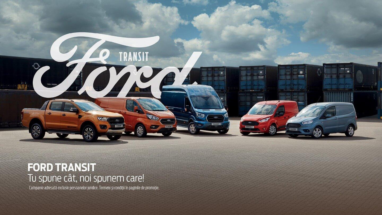 Oferte Ford Vehicule Comerciale. Tu spune cat, noi spunem care!